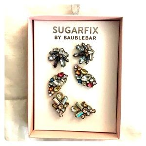 Sugarfix by Baublebar Jeweled Post Earrings Trio